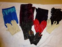 5 pairs of women's leather gloves