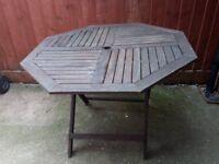 Garden Table seats 4 (wooden)