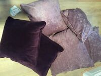 Six brand new cushions various