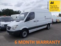Mercedes Sprinter 316 2.1 CDI 3.5T MWB H/Roof***ONLY 89K MILES**LEASE CO DIRECT**12 MONTH MOT**F/S/H