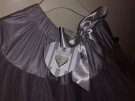 Girls Angel face tutu Silver age 4-6 never worn.