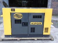 Kipor KDE 12STA3 12 KVA Generator, 3 Phase, AVR, Standby, Diesel Generator as new