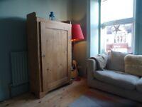 Solid Wood, free standing cupboard, bookshelf, TV cabinet.