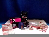 Cosmetics, hair, earrings set -A10