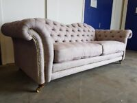 DFS BRITANNIA LIMITED EDITION TEAM GB CHESTERFIELD STYLE STUDDED 4 SEATER SOFA DELIVERY AVAILABLE
