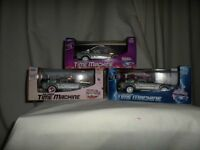 back to the future 1.24 diecast metal set of three