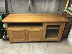 Solid Oak Furniture Set - Sideboard, Coffee Table, 2 x Side Tables