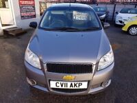 FREE MOTS AS LONG AS YOU OWN THIS CAR 2011 CHEVROLET AVEO 1.2 S 3 DOOR HATCH GREY 55K F/S/H NEW MOT