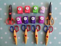 Collection of craft scissors and paper punches