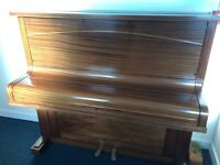 Teak upright piano excellent condition
