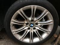 "Bmw E60 5 series 18 "" alloys m sport with tyres mv2 run flat"