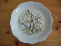 Royal Winton Pottery white with catkins/pussy willow design ironstone plate/dish. £8 ovno. Can post.