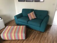 2x2 seater sofa and footstool