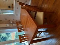 Oak furniture land dining table and 6 chairs