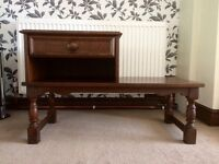 Vintage telephone table with drawer