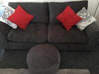 3 seater sofa and beanbag/footstool