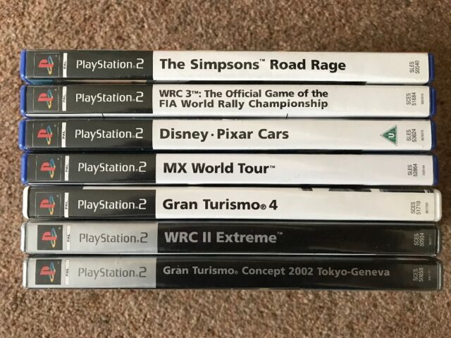 PS2 PLAYSTATION 2 GAMES BUNDLE 7 GAMES WITH BOXES Gran Turismo WRC II WRC 3  Simpsons Disney cars MX   in Hucknall, Nottinghamshire   Gumtree
