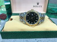 BrandNew Rolex Date just Black face automatic sweeping movement