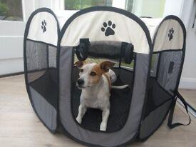 New Condition Dog Crate - Fabric Sides, Medium
