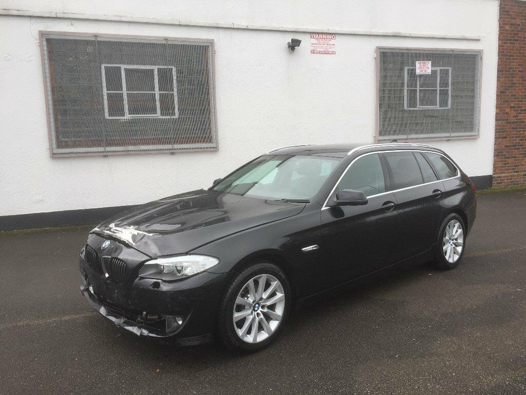 2011 11 bmw 520d se 2 0 manual f11 estate black damaged. Black Bedroom Furniture Sets. Home Design Ideas