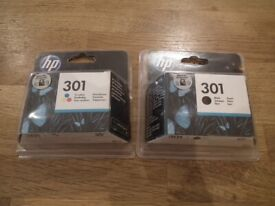 HP 301 brand new Colour and Black Cartridges