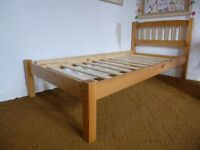 Solid, good quality pine single bed - no stickers or marks