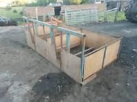 Twin ewe sheep lamb adopter farm livestock tractor