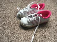 Adidas girls size 12 trainers