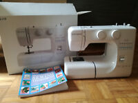 John Lewis White Sewing Machine JL110 as new