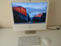 "APPLE IMAC 24"" LOVELY CONDITION WIRELESS KEYBOARD AND MOUSE"
