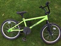 BMX green bike