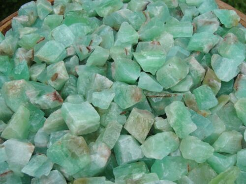 1000 Carat Lots of Green Calcite Rough + A FREE Faceted Gemstone - Very Nice!