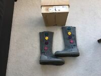 Ugg boots knitted.. Girls UK size 12. Excellent condition.
