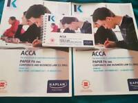 ACCA Paper4 Business Law Study Books