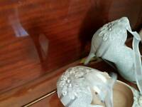 bespoke silver wedding shoes