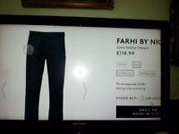 NICOLE FARHI BRAND NEW MENS LINEN TROUSERS