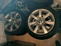 Bmw 18 alloys off 5 series with continental sport run flats