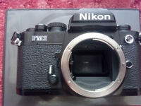 NIKON FM2 VINTAGE FILM ANALOGUE BLACK PROFFESIONAL CAMERA! FULLY WORKING! OPEN TO SERIOUS OFFERS!!