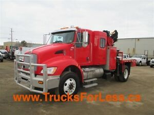 2012 Kenworth T370 4X4, BUNK, PICKER + SERVICE DECK!!!
