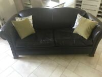 Derwent brown 3 seater sofa and armchair