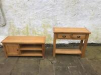 Solid oak console table * free furniture delivery*