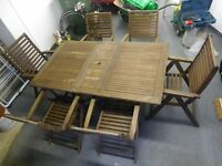 Hardwood Patio Set