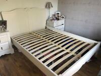 DOUBLE BED FRAME , cream, brought from Next 2 years ago