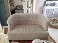 Cream 2 Seat Sofa Chair