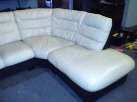 2nd hand leather corner sofa