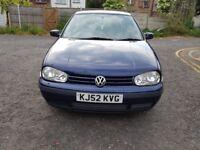 2002 Volkswagen Golf 1.9 TDI PD SE 5dr Automatic @07445775115