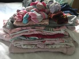 Huge bundle of 0-3 month girl's clothes