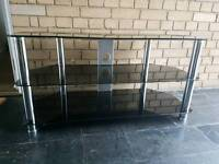 FOR SALE: Black Glass TV Stand