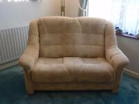 2-seater sofa upholstered in beige - Conforms to fire regulations