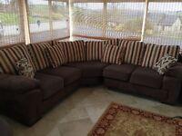 Corner Beige & Brown Couch